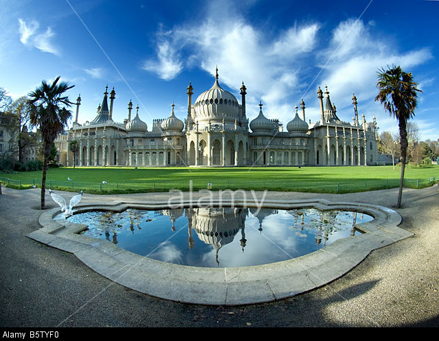 Royal Pavilion, Brighton, Sussex, extreme wide angle