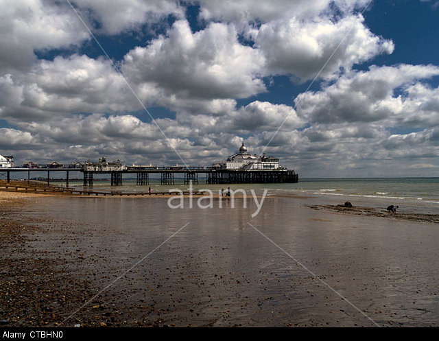 Eastbourne Pier and beach, East Sussex