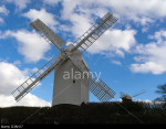 'Jill' windmill. One of two windmills (Jack and Jill) on the South Downs above Clayton village, Sussex, UK