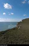 Blue sky and cliffs south coast of England near Beachy Head in Sussex UK