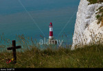 Beachy Head: a wooden cross at one of the most notorious suicide spots in the world